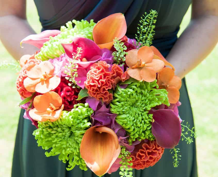 bouquet of bright coloured flowers