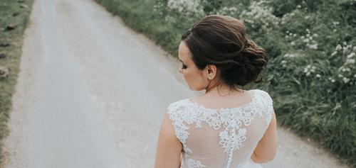 Selden Barns bride in vinatge dress