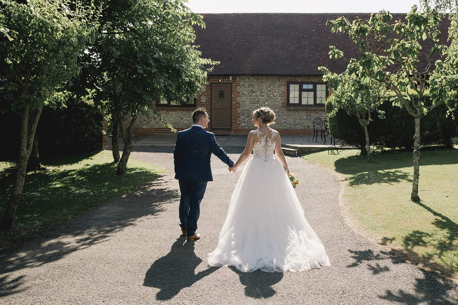 Married-Couple-at-Selden-Barns-Wedding-Venue-West-Sussex